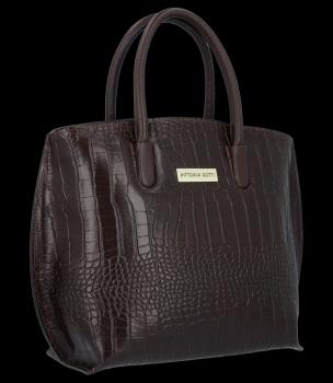Elegantné aligátor kožené tašky Vittoria Gotti čokoláda