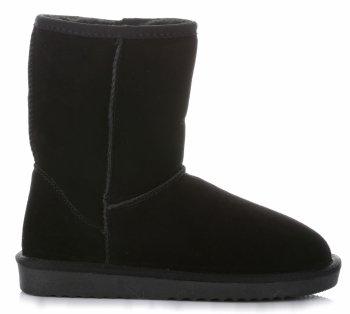 Talianske kožené členkové topánky dámske zimné topánky čierne