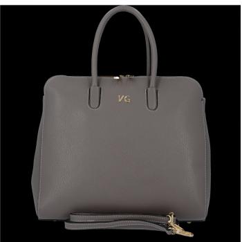 Elegantná Kožená taška s možnosťou rozšírenia Od Vittoria Gotti gray