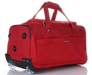 Cestovná taška Snowball na kolesách so stojanom Červená