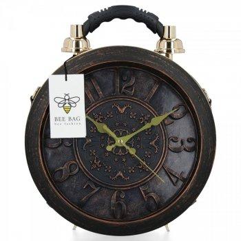 Bee Bag Designer Dámske tašky hodinky čierne