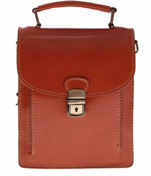 Messenger taška Unisex hrubé tváre kože červená