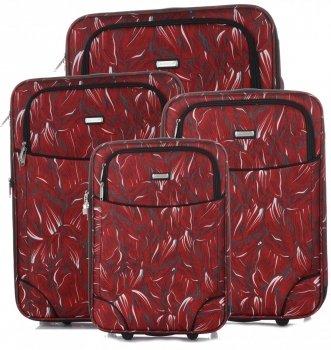 Unikátna sada kufrov 4v1 od slávnej značky Madisson Multicolor-Red