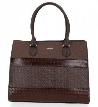 Elegantná dámska taška módna taška od čokolády Davida Jonesa