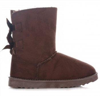 Talianske členkové topánky dámske zimné topánky hnedý