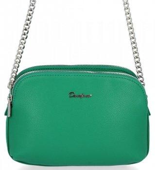Univerzálna dámska taška s tromi bunkami David Jones zelený