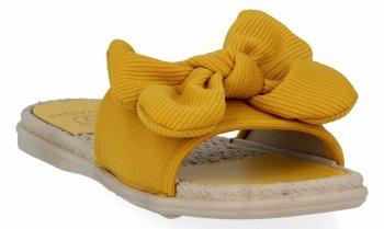 Žlté módne dámske žabky s lukom od Givany