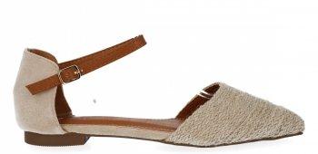 Béžové Dámske sandále s V-krkom Bellucci