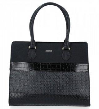 Elegantná dámska taška módna taška David Jones čierny