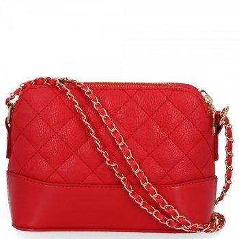 BEE BAG dvojkomorová taška Dámska prešívaná taška Messenger Paris červený
