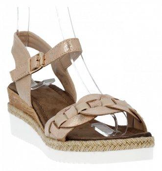 Béžové módne dámske klinové sandále od Lady Glory