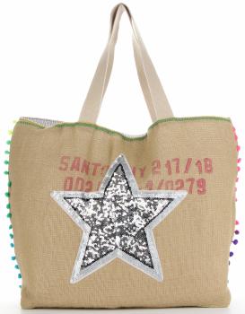 Značka veľkosti XXL dámska taška je odolná a priestranná ideálna pre letnú Striebornú hviezdu