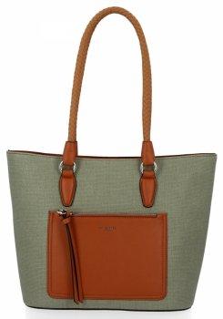 Klasické dámske ležérne tašky David Jones zelený