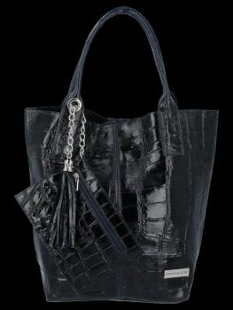 Univerzálna Kožená taška XL Shopper v štýle zvierat od Vittoria Gotti Granet