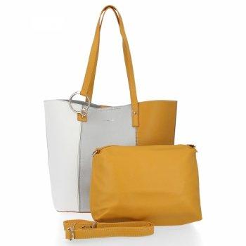 David Jones módne Ženy tašky nastaviť 2v1 Shopper so strieborným poštár