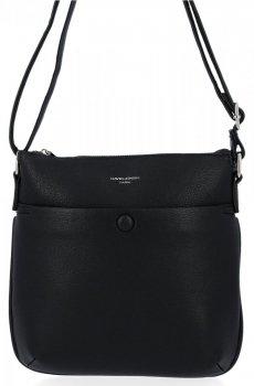 Univerzálna dámska príležitostná taška na posol David Jones čierny