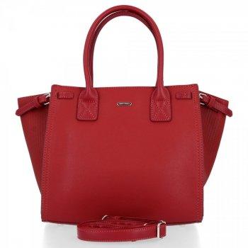 David Jones Firemná Klasická dámska taška Tmavo červená