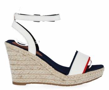 Biele dámske klinové sandále od Lady Glory