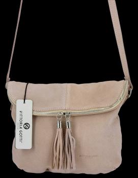 Univerzálna príležitostná Kožená taška na messenger veľkosť M od Vittoria Gotti beige