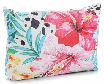 Módne kozmetické tašky značky L David Jones kvetinový vzor viacfarebný ružový