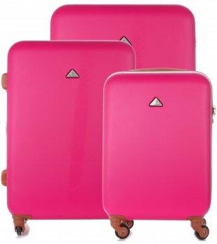 Elegantný a odolný kufor 3v1 od Snowball ružový