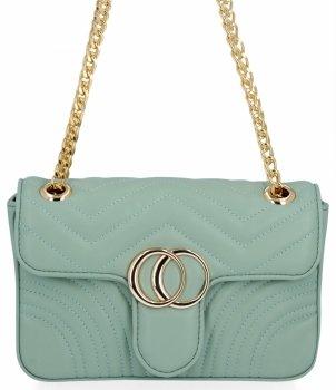 Elegantná dámska taška na messenger pre všetky príležitosti od Herisson light zelený