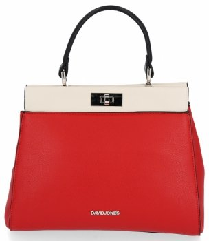 Dámska taška s dvoma bunkami, elegantná červená taška Davida Jonesa