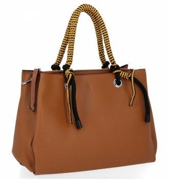 Dámska taška s tromi priehradkami Venere hnedý