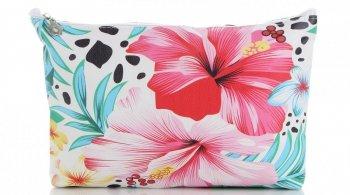 Módne kozmetické tašky veľkosti M David Jones kvetinový vzor viacfarebný ružový