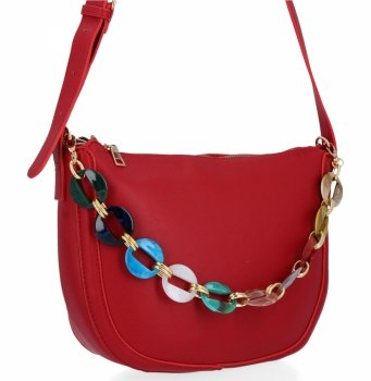 Herisson Firemná dámska taška na posol, perfektná príležitostná Červená