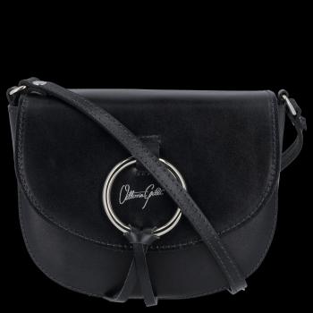Elegantná Kožená taška Vittoria Gotti vyrobená v Taliansku Čierna