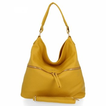 BEE BAG univerzálna dámska taška Denise Veľkosť XL Žltá