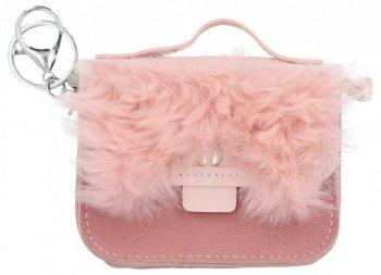 Módna kľúčenka na tašky Taška prášok Ružová