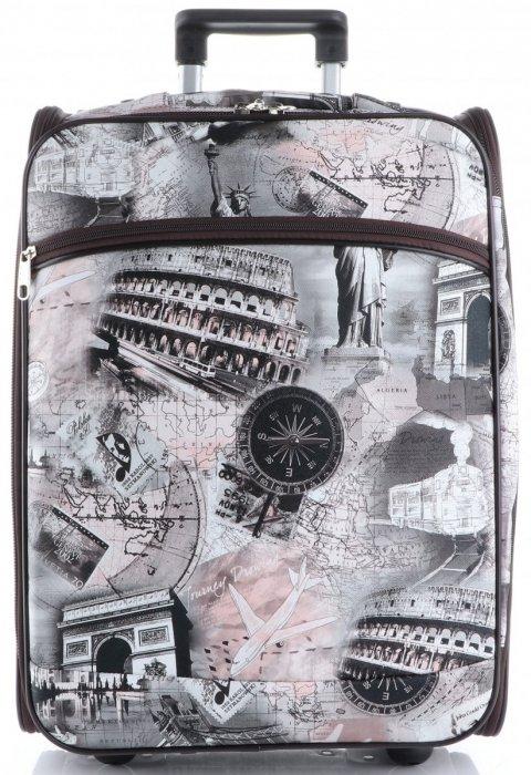 Palubní kufřík značky Or&Mi Travel Monument multicolor hnědá