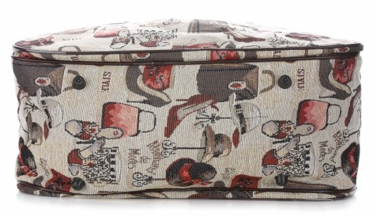 STŘEDNÍ cestovní taška kufřík Or&Mi Fashion Multicolor - béžová