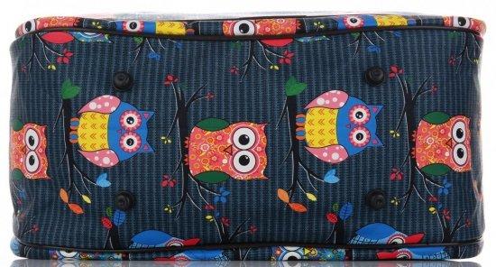 Průměrná cestovní taška kufřík Or&Mi vzor v sovy Multicolor - Mořská