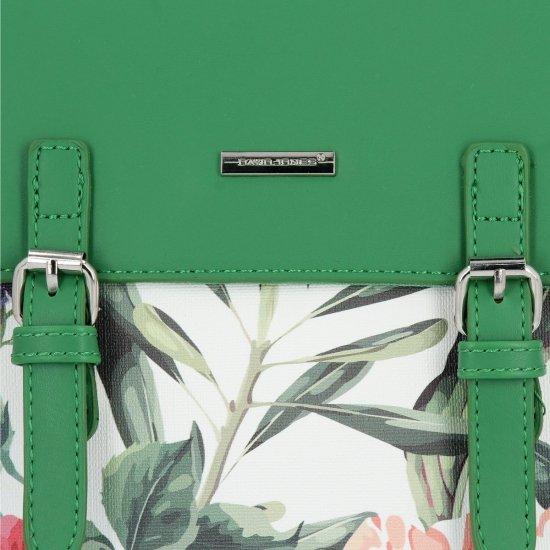 Módní Batůžky David Jones květiny vzor Zelený
