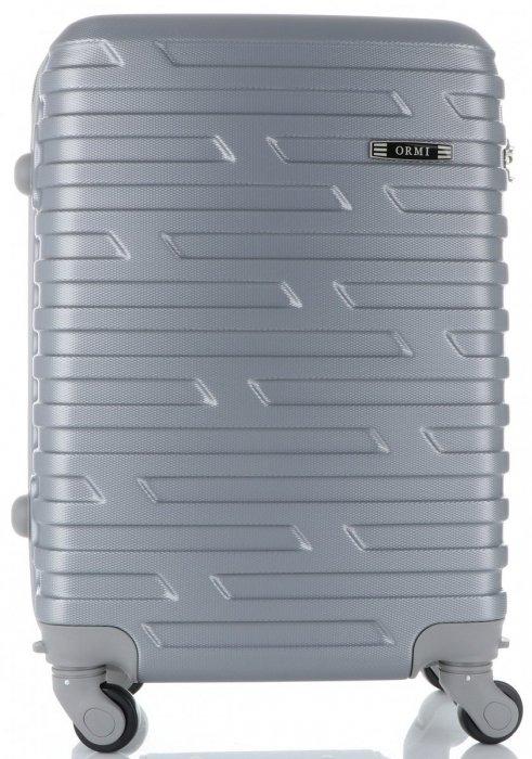 Módní Palubní kufřík Or&Mi 4 kolečka stříbrný