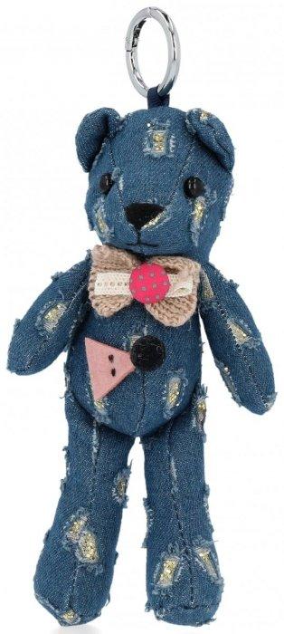 Přívěšek ke kabelce Elegantní medvídek s mašličkou modrý