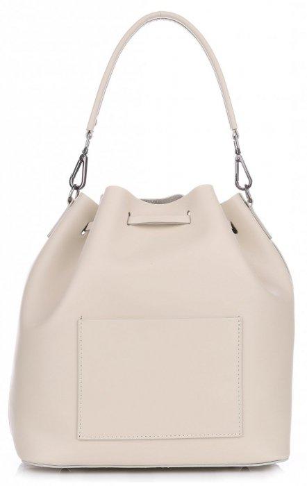 42c8f67653 VITTORIA GOTTI Made in Italy Elegantní Kožená kabelka béžová ...
