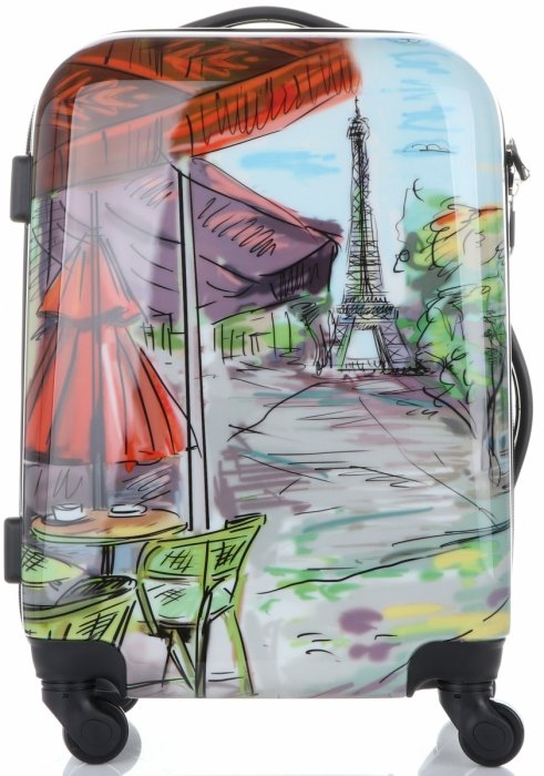 Kufry renomované firmy Madisson Sada 3v1 Paris multicolor - černé