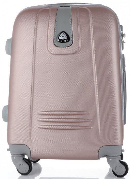 Palubní kufřík Lumi 4 kolečka špinavě růžový