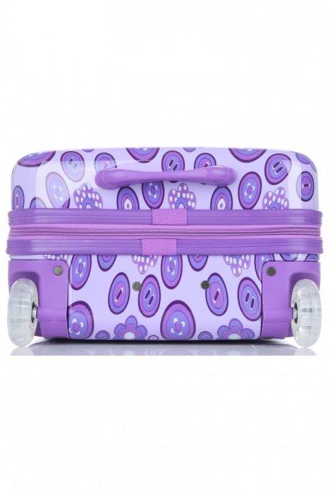 Módní Palubní kufřík s motivem květin Snowball fialová