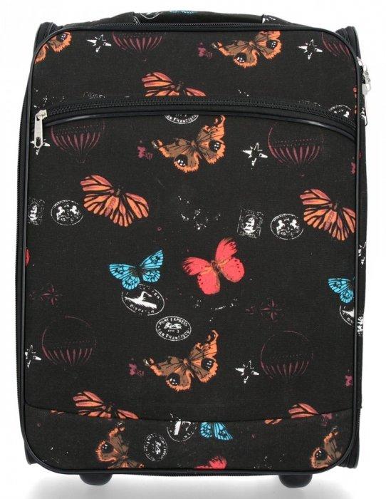 Módní Palubní Kufřík Butterfly značky Or&Mi Černý