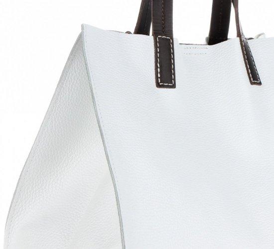 Univerzální Kožené Kabelky 2v1 ShopperBag a Listonoška Bílá