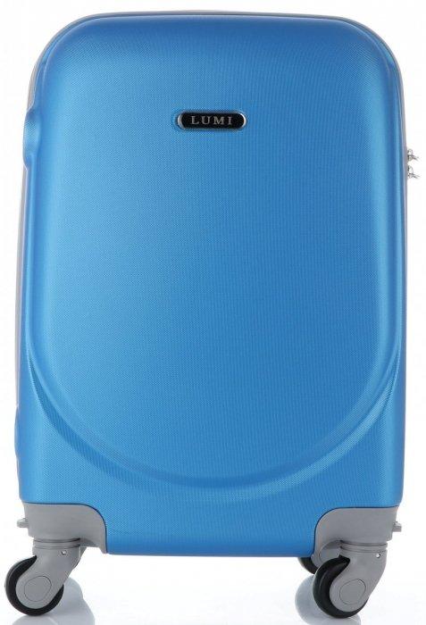 Palubní kufřík Ultra Light Lumi 4 kolečka modrý