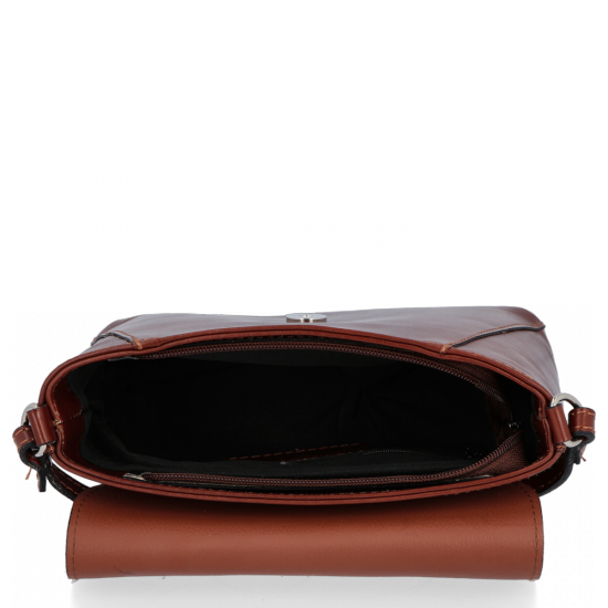 Klasyczna Listonoszka Skórzana firmy Vittoria Gotti Made in Italy Brązowa