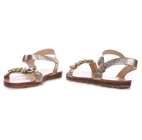 Sandały Damskie Złote