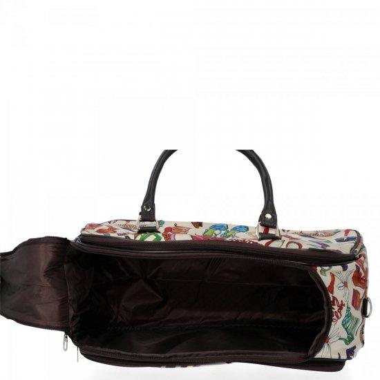 Mała Torba Podróżna Kuferek Or&Mi Shoes Multikolor - Beżowa