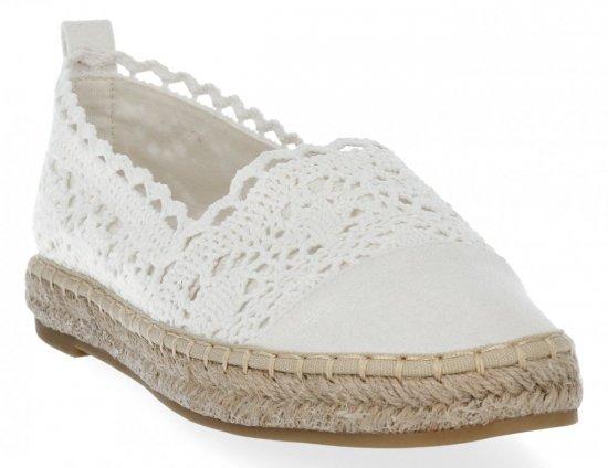 Białe modne espadryle damskie firmy Lady Glory